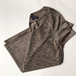 Metallic short sleeve blouse